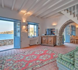 The Patmos Eye 2 sea view traditional luxury villa in Patmos is a large 8 people, 3 bedroom villa.